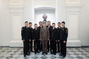 Военные лицеисты в Санкт-Петербурге